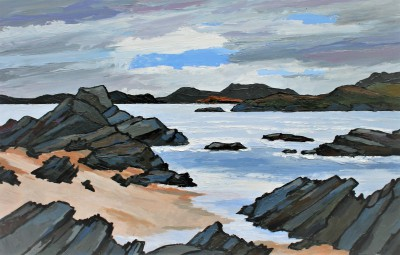 Modern Artist David BARNES - The Sutherland Coast