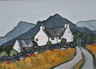 Modern Artist David BARNES - In The Moelwyns