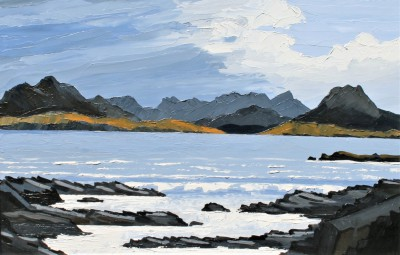 Modern Artist David BARNES - Towards Cuillin From Elgol