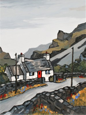 Modern Artist David BARNES - Road Down The Pass