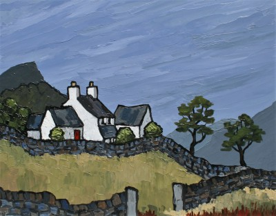 Modern Artist David BARNES - Farm Near Siabod