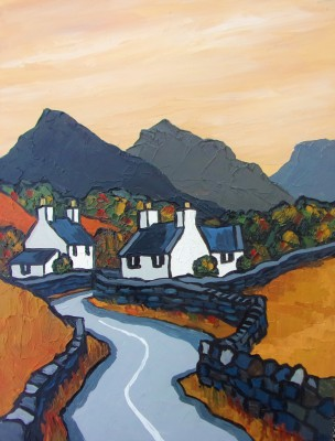Modern Artist David BARNES - Towards Siabod