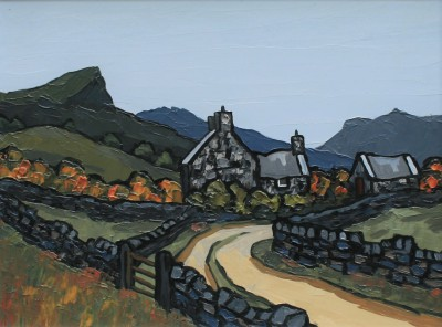Modern Artist David BARNES - Hillside Road