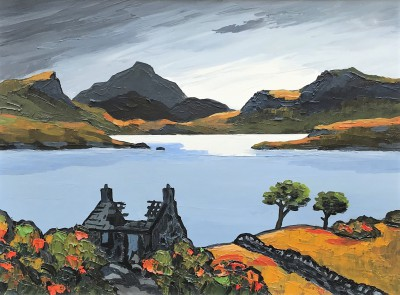 Modern Artist David BARNES - The Old Scottish Croft