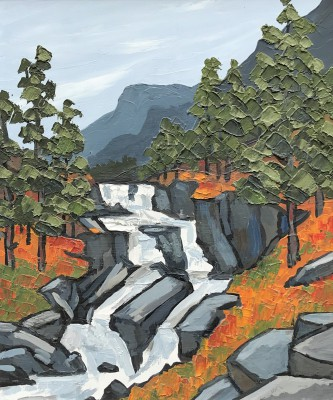 Modern Artist David BARNES - In the Lledr Valley