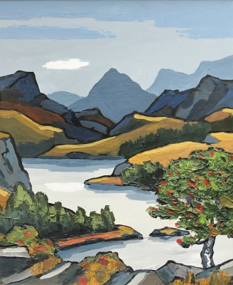 Modern Artist David BARNES - In the Grampians