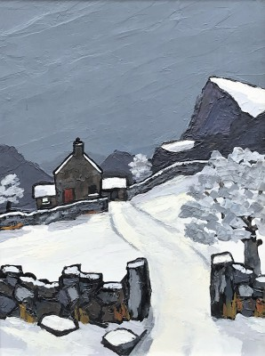 Modern Artist David BARNES - Carneddau in Winter