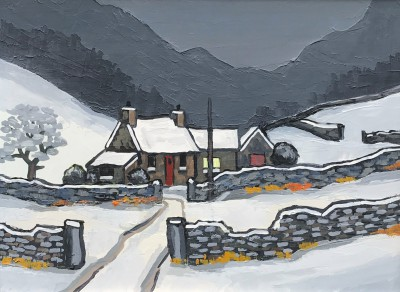 David BARNES, contemporary artist - <span style='color:red;font-size: 200%'>•</span> Near Dolwyddelan