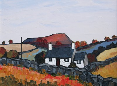 Modern Artist David BARNES - Autumn in the Lleyn