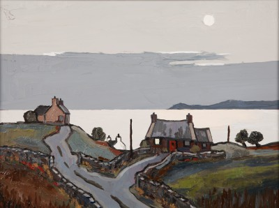 Modern Artist David BARNES - Cottages on Anglesey
