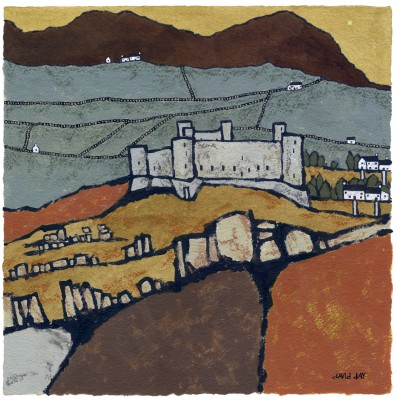 Harlech painting by artist David DAY