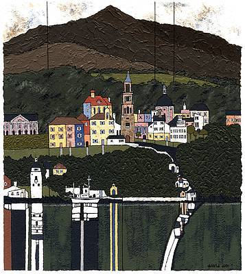 Modern Artist David DAY - Portmeirion, Snowdonia