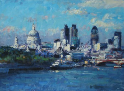 David FARREN - Summer Light across the Thames