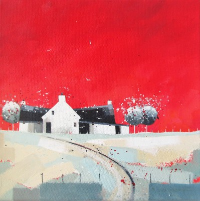 Modern Artist Dionne SIEVEWRIGHT - Red Sky at Night