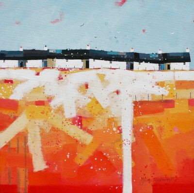 Modern Artist Dionne SIEVEWRIGHT - Six Little Cottages Sitting in the Sun