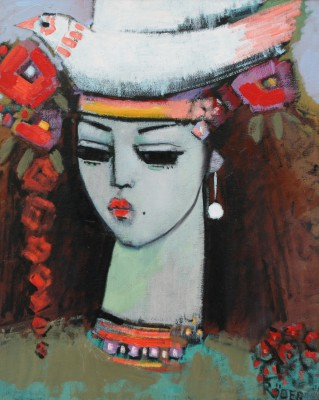 Modern Artist Endre RODER - Pretty Figurehead Model