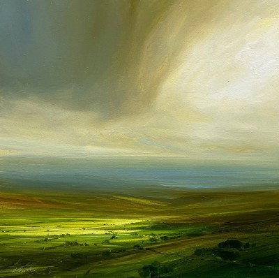 Modern Artist Harry BRIOCHE - Sunlit Valley