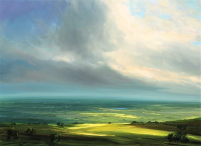 Modern Artist Harry BRIOCHE - Hazy Summer, High Peak