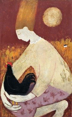 Helen TABOR, contemporary artist - The Wee Black Bantam