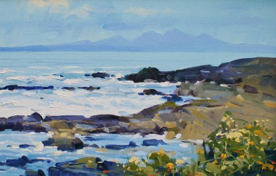 Modern Artist Helen TURNER - The Paps of Jura