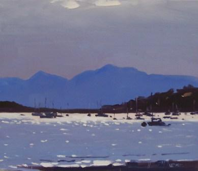 Modern Artist Helen TURNER - Silver Light, The Cumbrae