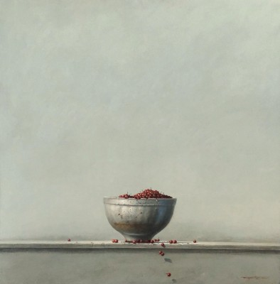 'Bowl and Berries' painting