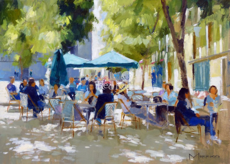 Jack MORROCCO - Morning Coffee, Plaza de la Paja, Madrid
