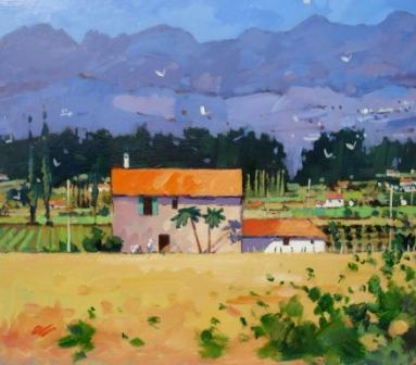 Modern Artist James ORR - Towards the Pyrenees