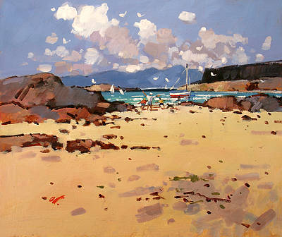 Modern Artist James ORR - Beach at Portuairk