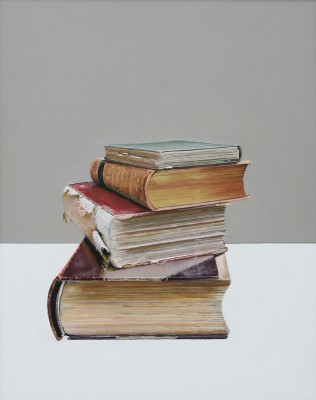 Jane CRUICKSHANK, contemporary artist&nbsp;-&nbsp;<span style='color:red;font-size: 200%'>&#8226;</span> Pile of Books