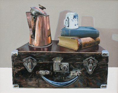 Jane CRUICKSHANK - Still Life with Copper and Books