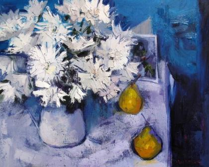 Jennifer MacKENZIE - White flowers and Pears