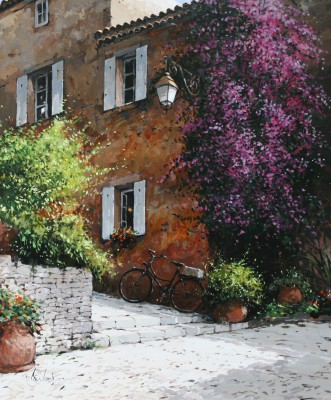 Gassin, Provence painting by artist Jeremy BARLOW