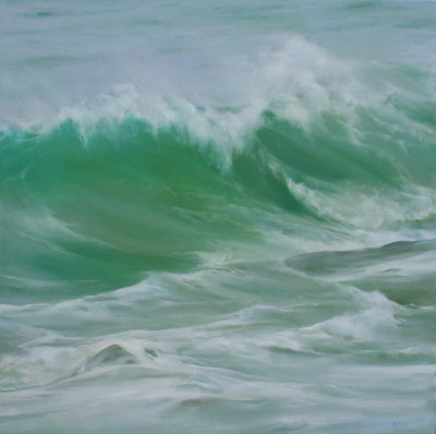 Jo BEMIS - Waves and Rocks off the Island, St Ives
