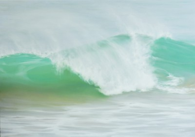 Emerald Wave painting by artist Jo BEMIS