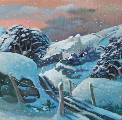 Modern Artist Jo MARCH - More Snow by Evening