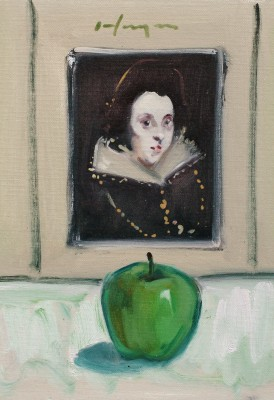 Antonia and the Green Apple painting by artist Joe HARGAN