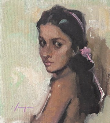 Anna painting by artist Joe HARGAN