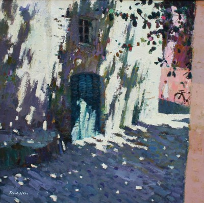 Modern Artist John KINGSLEY PAI RSW  - Shaded Doorway, Calvi