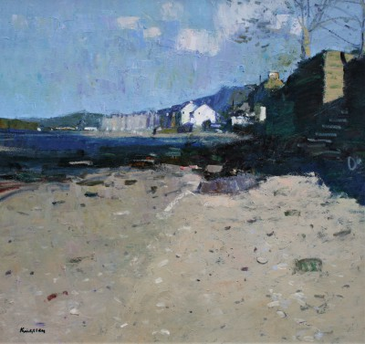 Beach at Fairlie, Ayrshire painting by artist John KINGSLEY PAI RSW