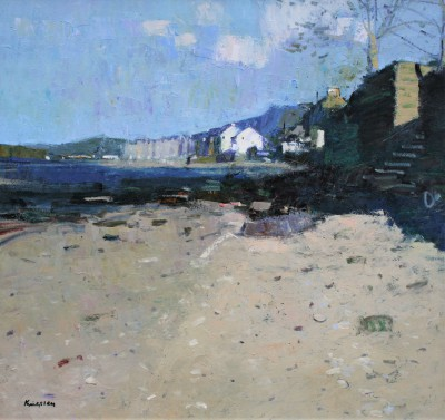 John KINGSLEY PAI RSW  - Beach at Fairlie, Ayrshire