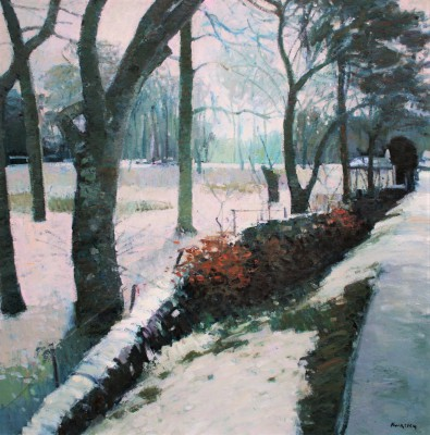 Winter Trees, Strachur painting by artist John KINGSLEY PAI RSW
