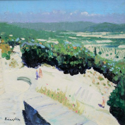 Modern Art from artist - John KINGSLEY PAI RSW  - Luberon Valley at Gordes