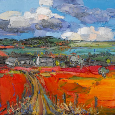 Judith BRIDGLAND - Gathering Clouds over Farm, Glenlivet