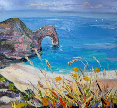 Judith BRIDGLAND - Summer at Durdle Door