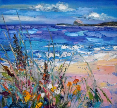 Modern Artist Judith BRIDGLAND - Windswept Grasses at North Berwick