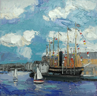 Bristol Harbour       painting by artist Judith BRIDGLAND
