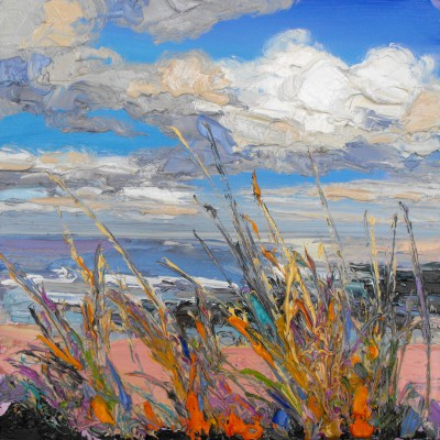 Modern Artist Judith BRIDGLAND - Vibrant Grasses by the Shore