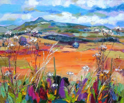Modern Artist Judith BRIDGLAND - Ben Lomond from Queens View