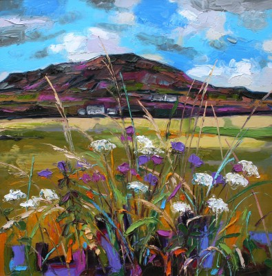 Modern Artist Judith BRIDGLAND - Green Hedgerow, Causeway Coast
